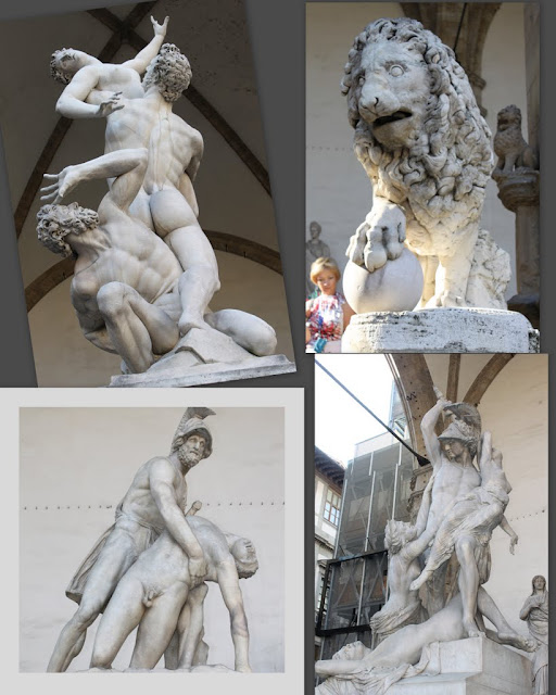 Some statues can be seen at Loggia dei Lanzi in Piazza della Signoria in Florence, Italy