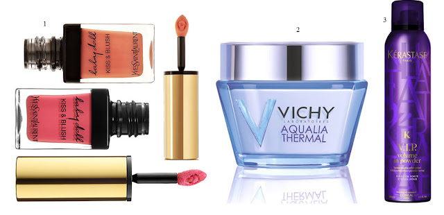 Baby Doll Kiss & Blush; Aqualia Thermal Rich Cream, Vichy; V.I.P. Volume In Powder,  Kérastase