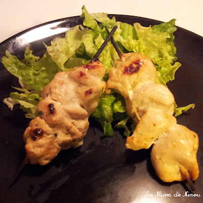 Illustration Brochettes de poulet tandoori