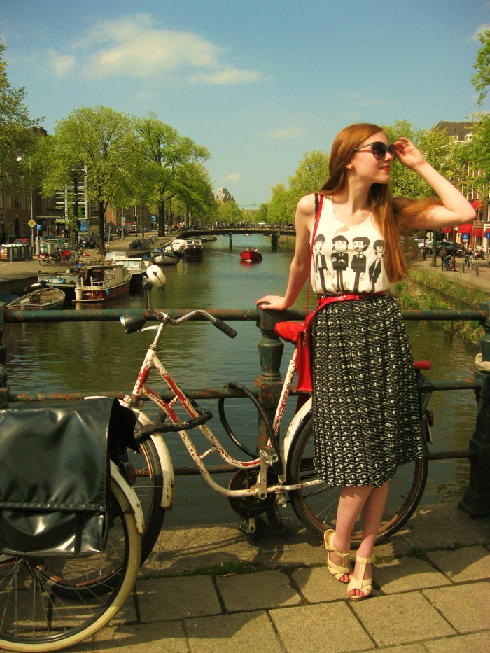 Fashion Blogger Outfit Vintage H&M Amsterdam