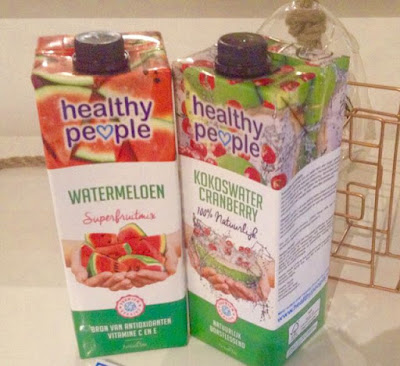 My happy kitchen test: Healthy People watermeloen en kokoswater cranberry