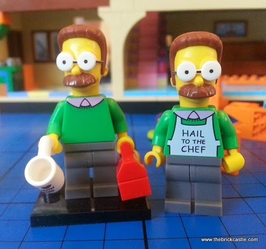 Ned Flanders minifigures compared LEGO blind bag and house