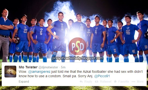 The Azkals footballer who doesn't know to use a condom