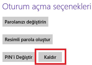 Windows 8 Pİn Kodu