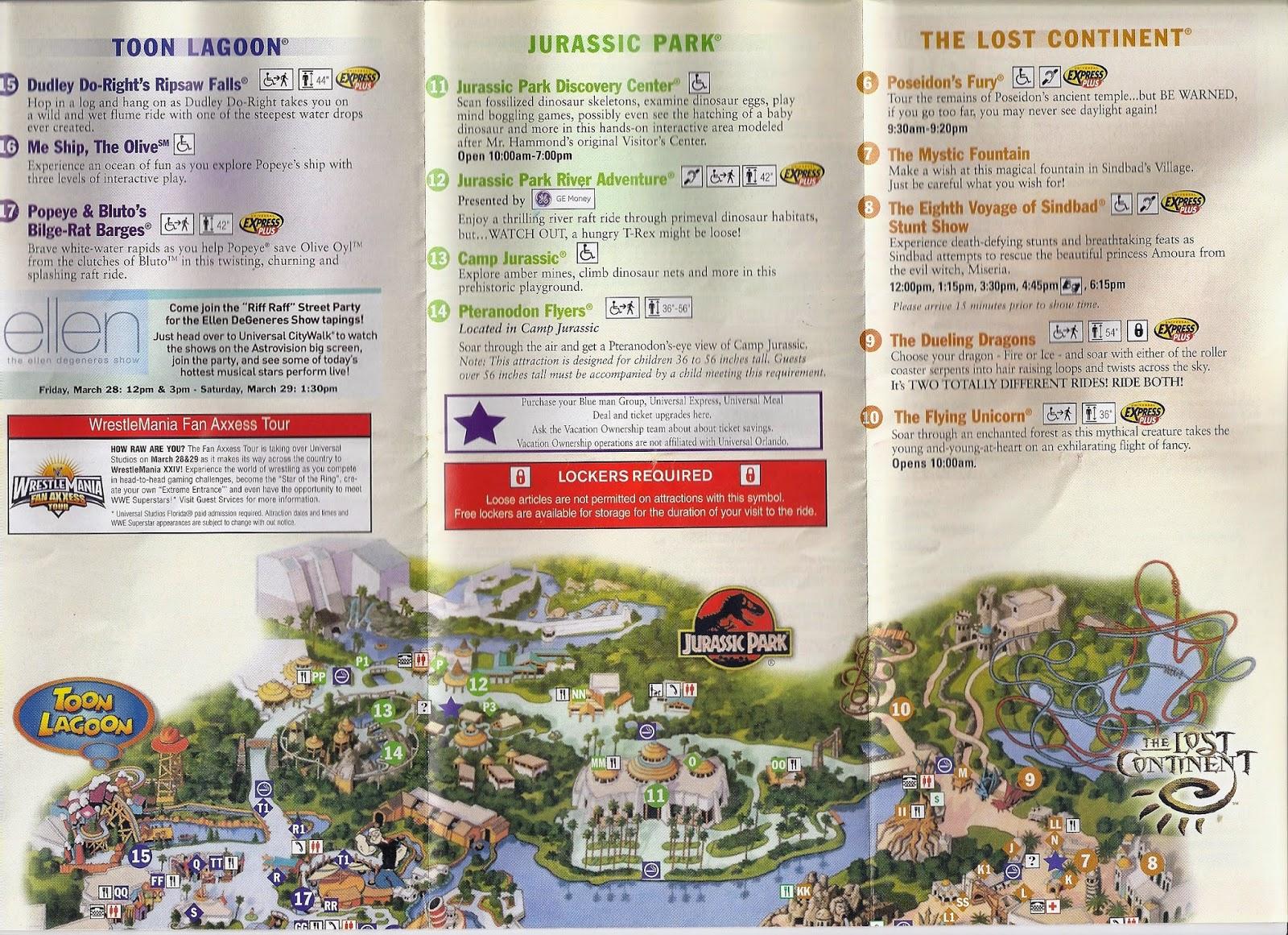 All Around Orlando Retro 2007 Islands of Adventure Theme Park