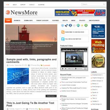 NewsMore blogger template. slideshow template blog. pagination for blogger template. magazine style blog template. template image slider blog. template 3 column footer blogspot