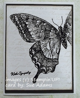 Card made with Stampin'UP!'s new Swallowtail Background Stamp.