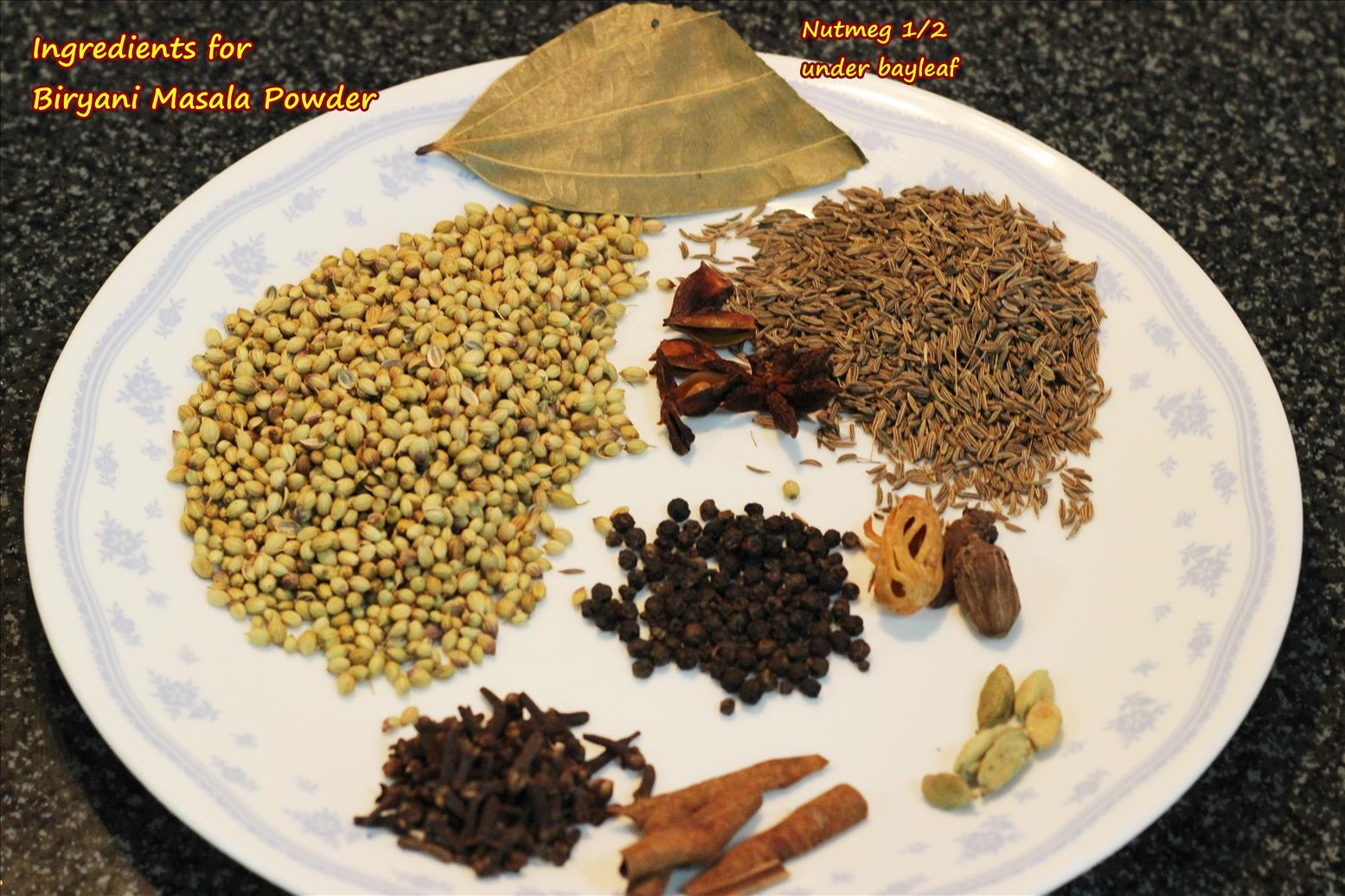 Biryani masala powder recipe how to make biryani masala powder - Garam masala recette ...