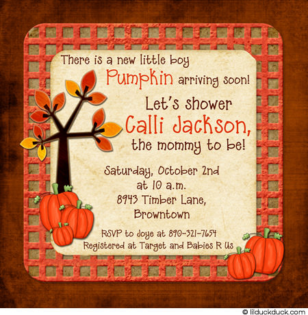 Autumn Baby Shower Invitations7