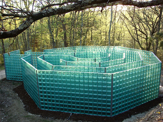 Glass Labyrinth at Chianti Sculpture Park near Siena