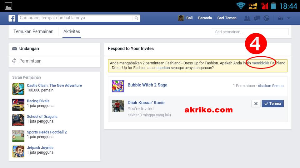 Cara Memblokir Permintaan Permainan di Facebook