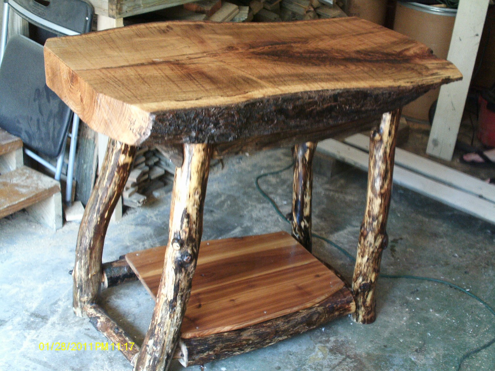 Handmade rustic log furniture june 2012 Homemade wooden furniture