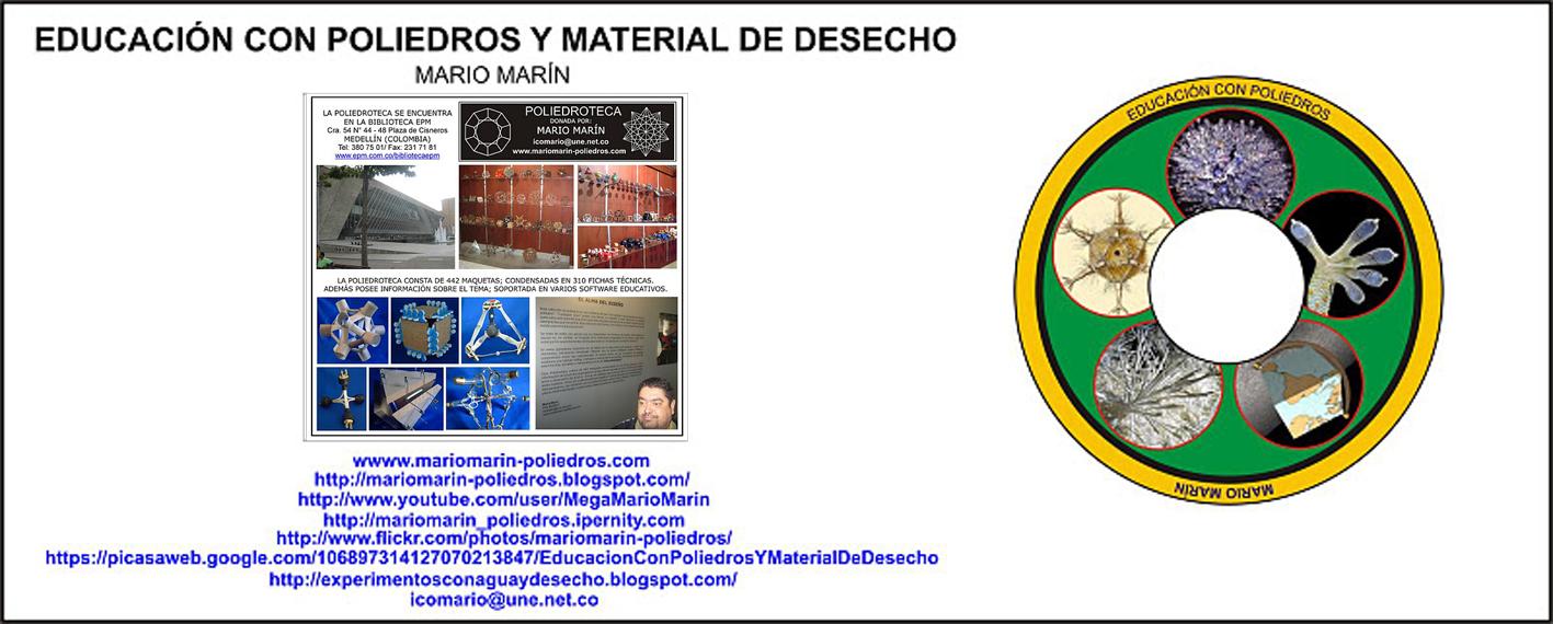 Educación con poliedros y Material de desecho