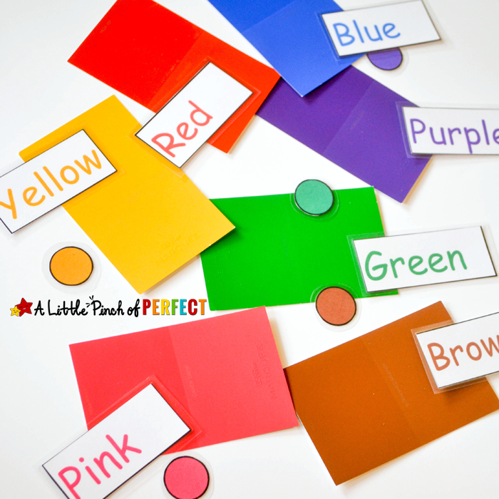 Button Machine Color Learning Game with Free Printable -