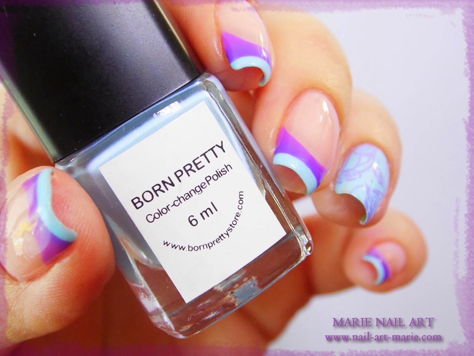 Nail Art Double French Thermique8