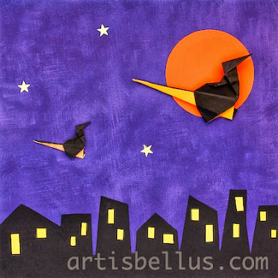 Halloween Decorations: Witch on a Broomstick