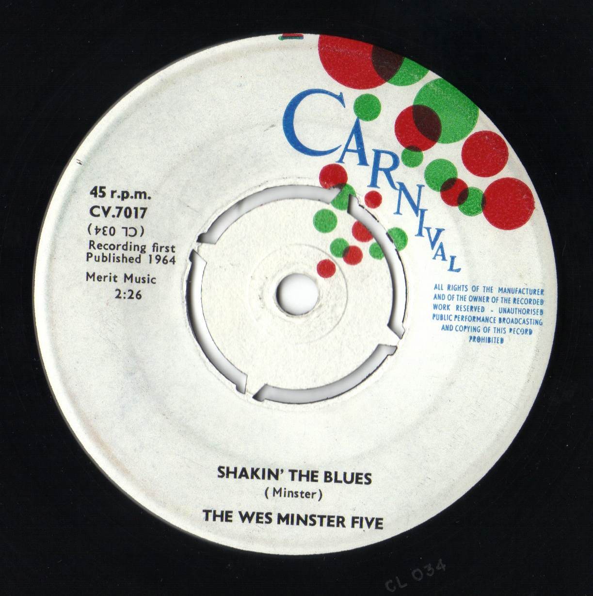 Maynell Wilson And The Wes Minster Five Hey Hey Johnny