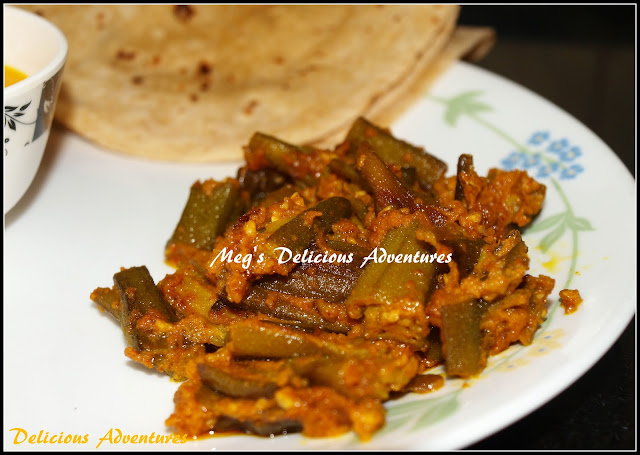 Stuffed Bhindi / Ladyfingers / Okra (Bharli Bhendi)