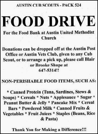 Austin Cub Scout Food Drive