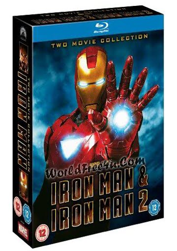 Poster Of Iron Man Duology In Hindi English Dual Audio 300MB Compressed Small Size Pc movies Free Download Only At worldfree4u.com