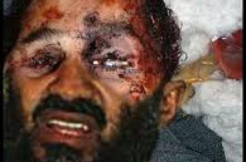 is osama bin laden real. osama bin laden death photo.