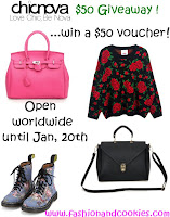 Chicnova $50 giveaway on Fashion and Cookies