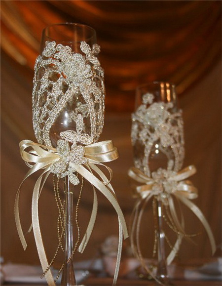 Wedding Glasses Decoration Ideas