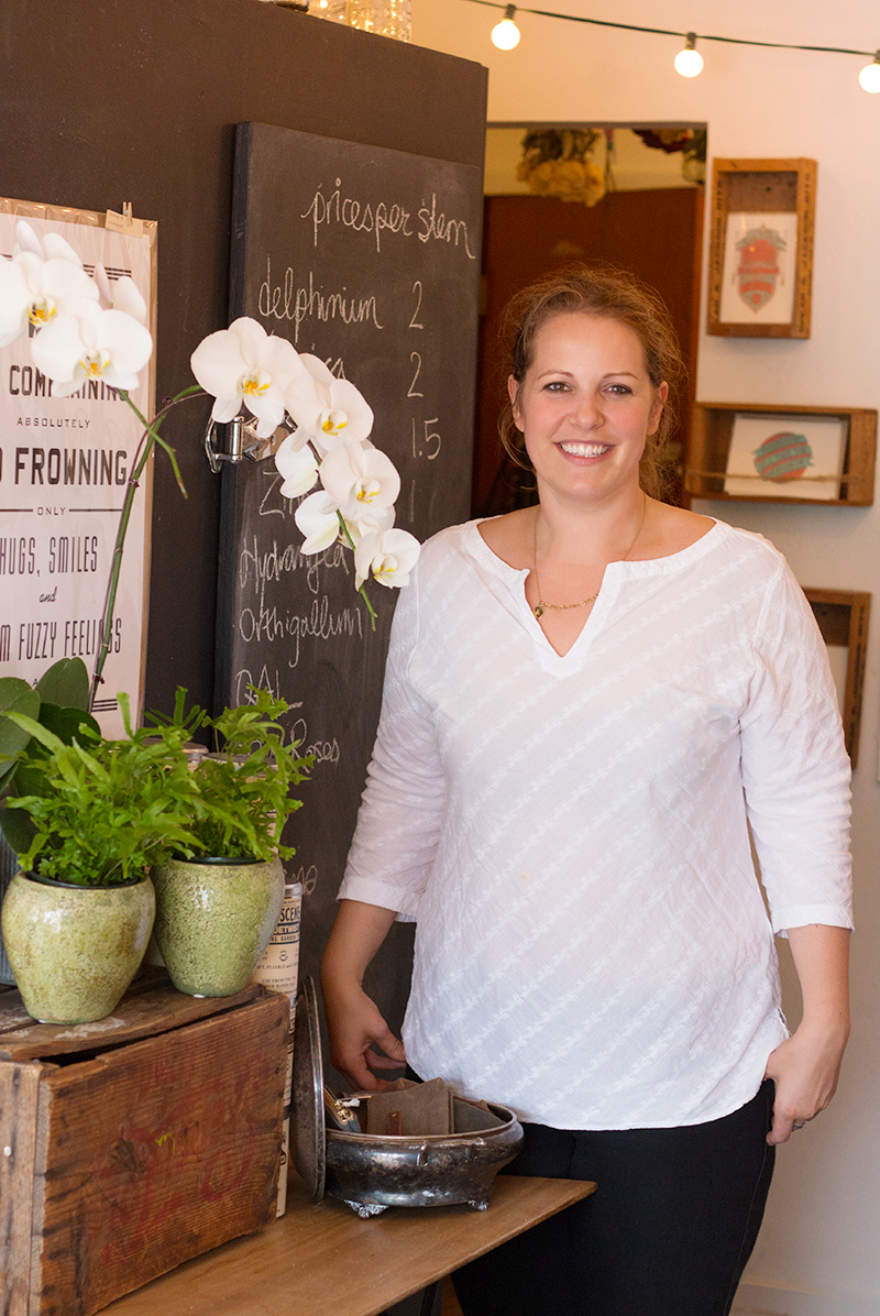 Alexandra Powell, co-owner of THORN & thistle, a boutique flower shop in Victoria, B.C.