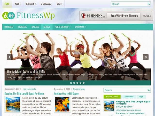 FitnessWp - Free Wordpress Theme