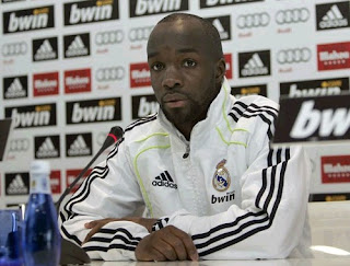Lass Diarra on Real Madrid jersey