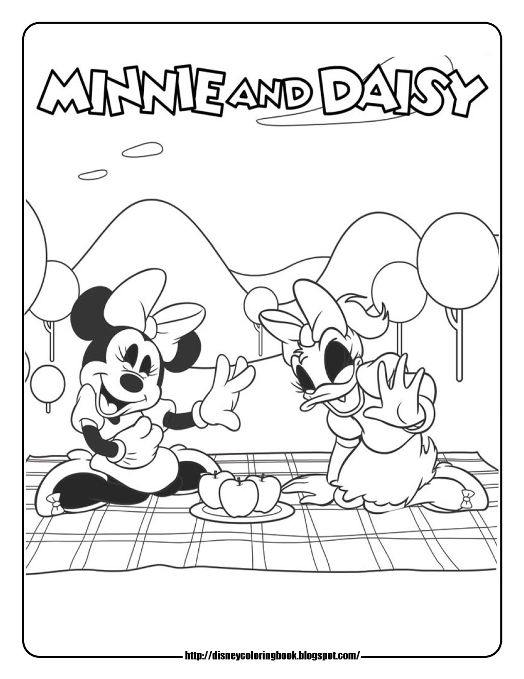 daisy duck bow coloring pages - photo#34