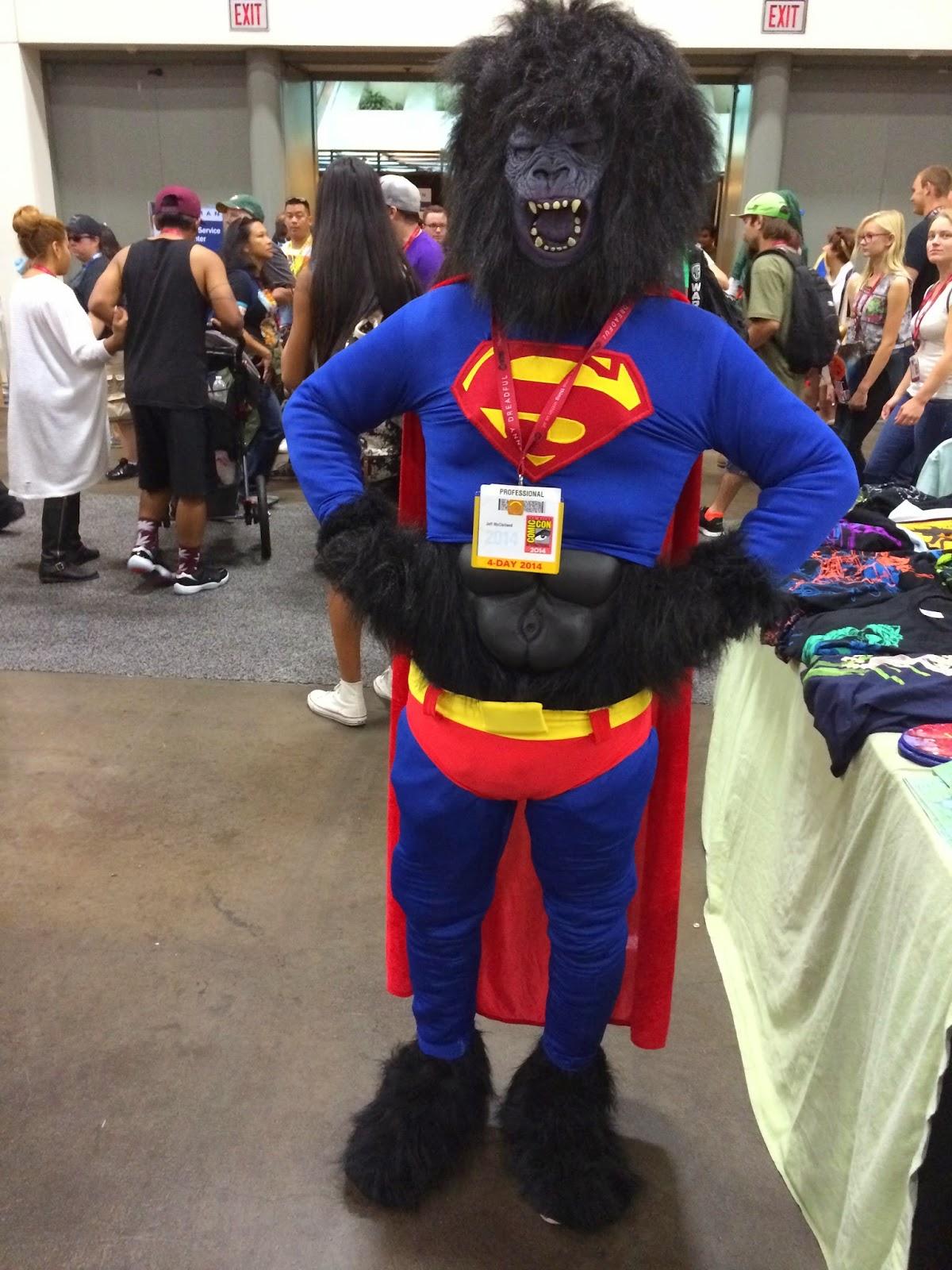 the yeti speaks!: gorilla superman at comic-con international 2014