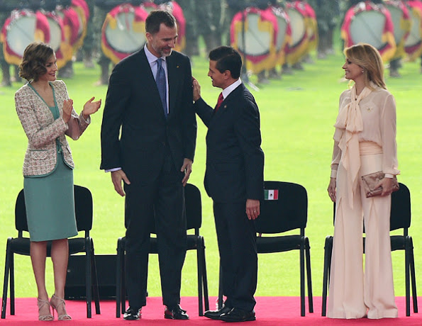 Queen Letizia And King Felipe's Visit To Mexico, 1st Day