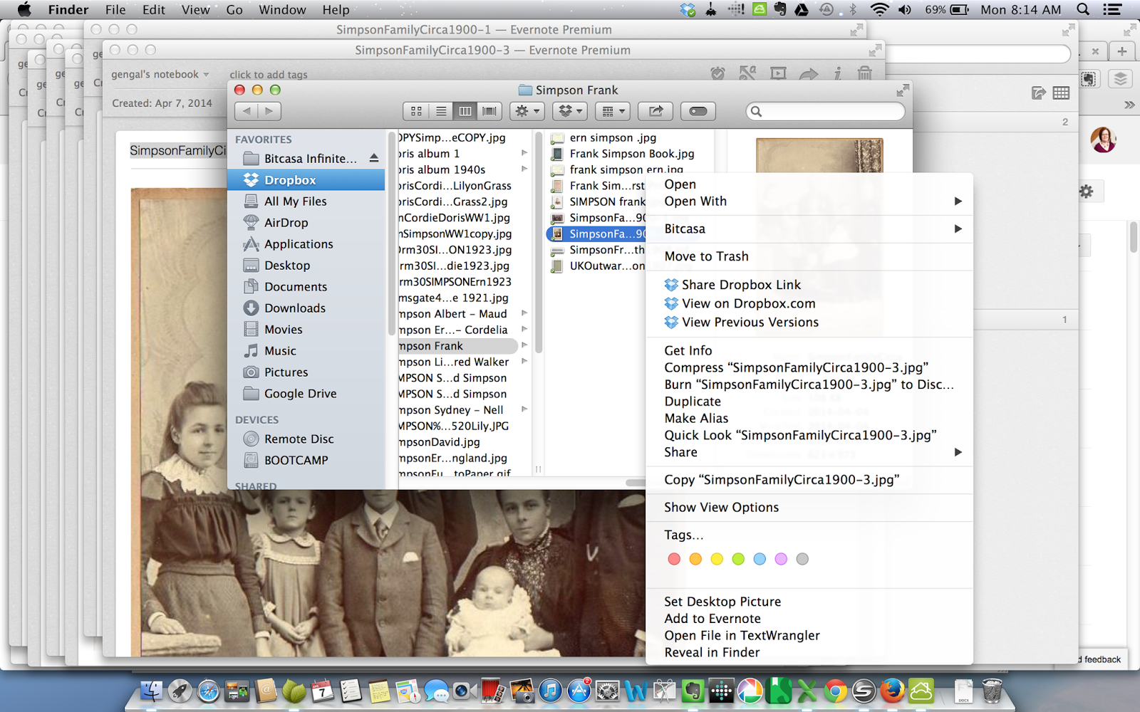 Olive Tree Genealogy Blog: More Ways to Use Evernote to Create Virtual Genealogy Binders
