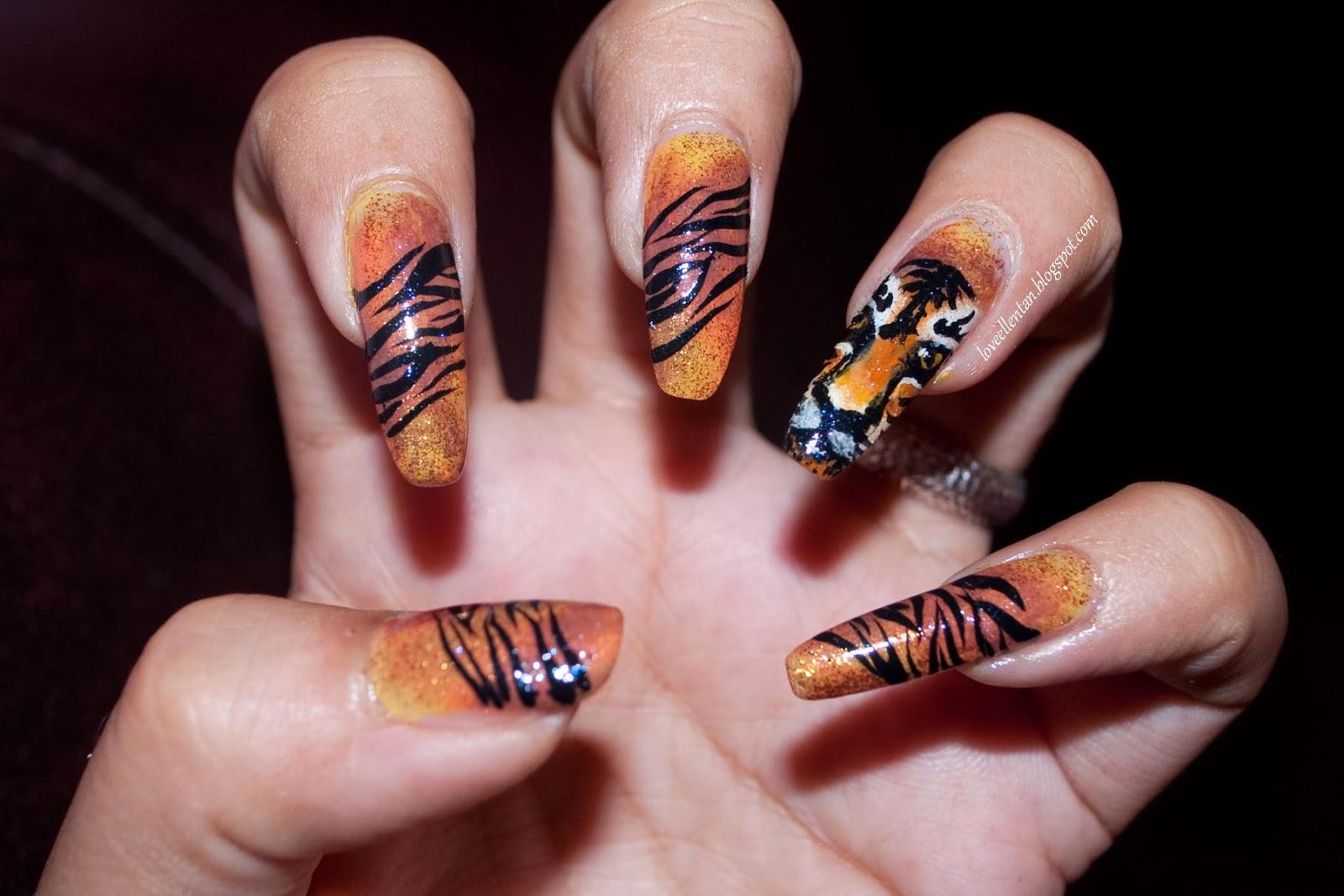Tiger nail design images white tiger nail art gallery view images tiger nail prinsesfo Images