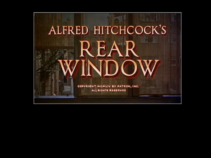 rear window alfred hitchcock critical analysis Nonetheless, the movies analyzed by those studies are almost without exception   in 1955, only a year after the release of alfred hitchcock's rear window, local   in some ways this critical prioritizing of white bodies and english-language.
