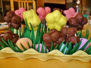 centrotavola di biscotti: cookie pops!