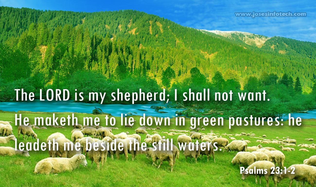 Psalm 23 wallpaper