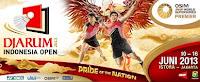 Jadwal Bulutangkis Djarum Indonesia Open 2013