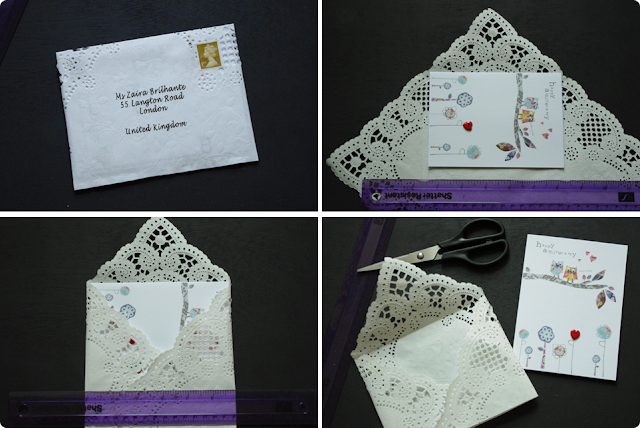 Cute vintage doily envelope