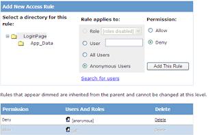 deny anonymous access