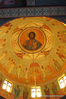 Greek Catholic Patriarchate, the cupola with a paiting from Jesus with the Twelve Apostles.