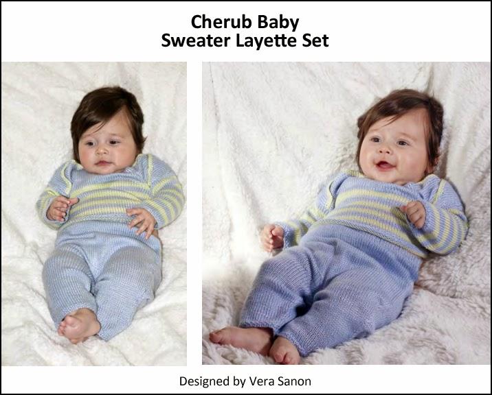 Cherub Baby Sweater Layette Set -  FREE Pattern by Cascade Yarns