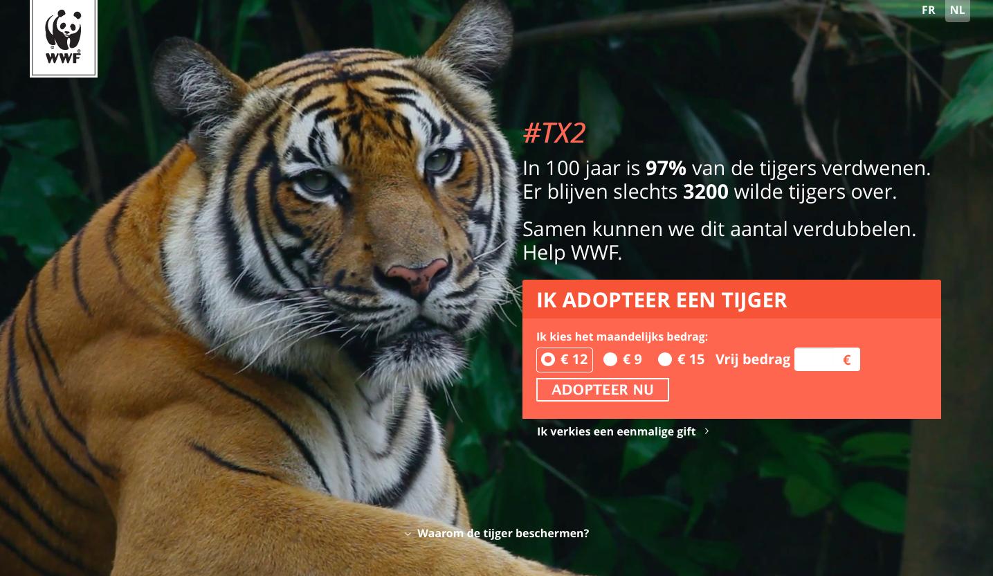 wwf adopteer een tijger