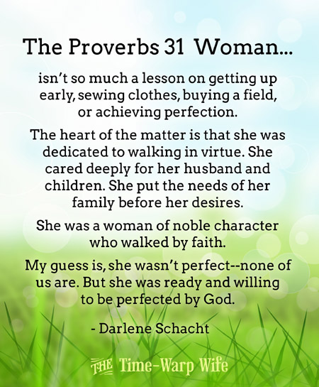 Free Printable - The Proverbs 31 Woman - Time-Warp Wife
