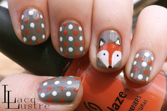 Fox Face Nail Art