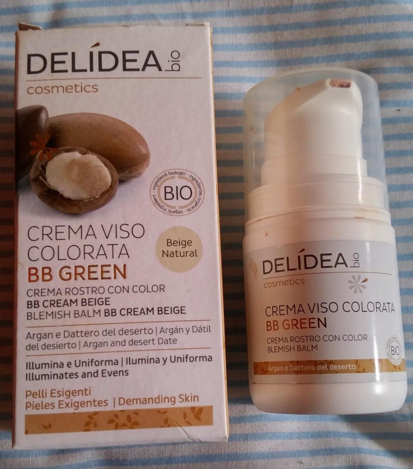 Crema Viso colorata BB Green, argan e dattero del deserto - Delidea Bio Cosmetics