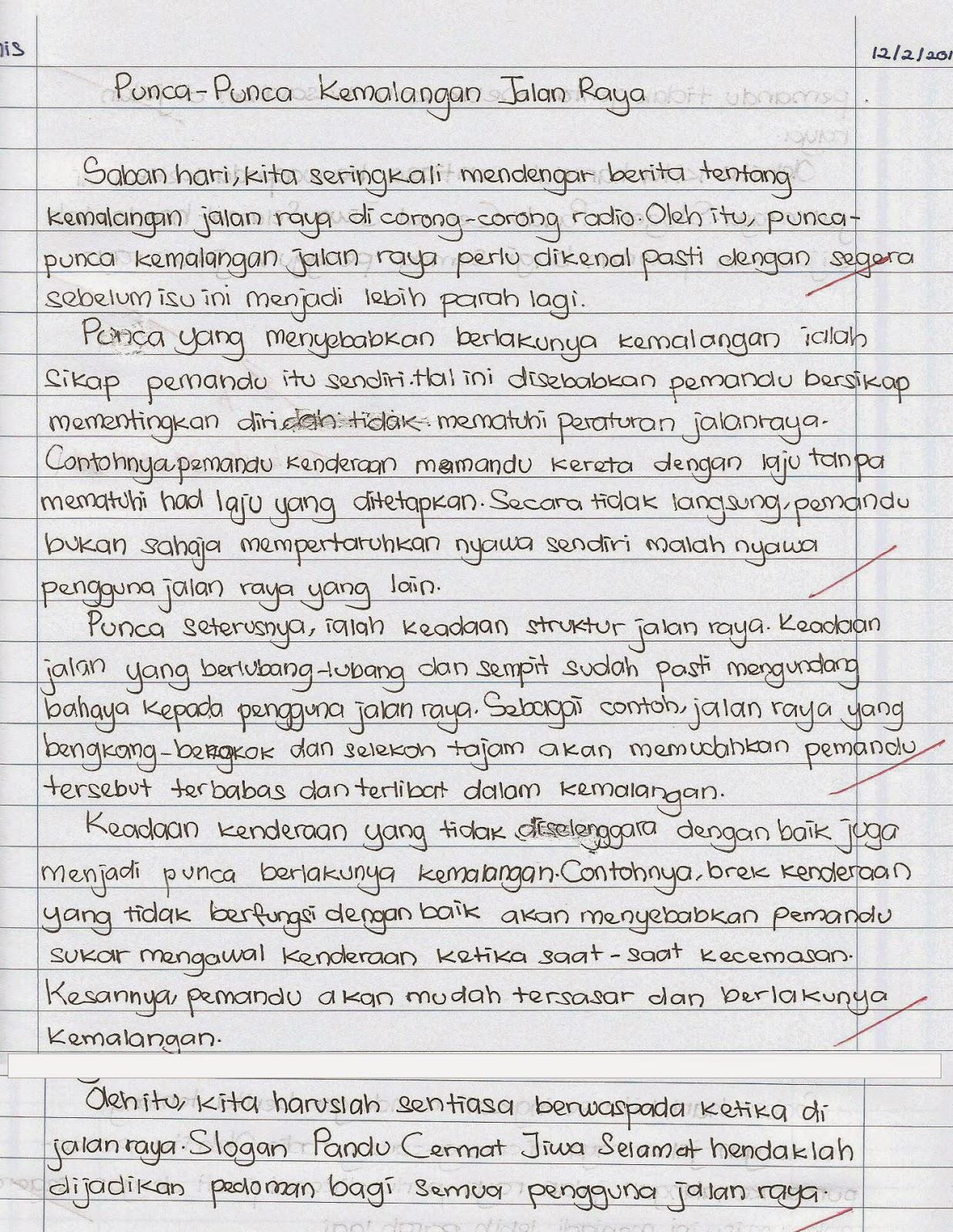 Contoh Karangan PT3