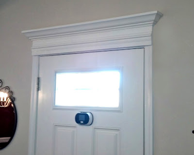 ... our latest project was to create a custom cornice for our front door. The updated look is fabulous pretty easy to do and comes in at a whopping $20! ) & Road to the Ravenna: DIY Custom Doorway Cornice