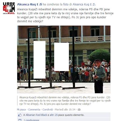 I nazionalisti albanesi vogliono la reintroduzione della pena di morte.
